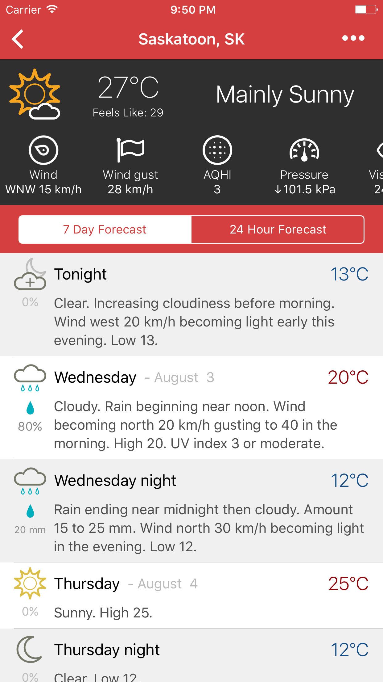 Météo: Canadian Weather | Open Government